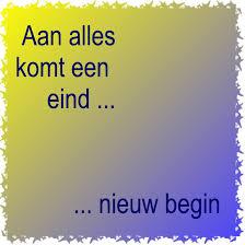 einde.......nieuw begin