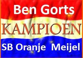 kampioen Ben Gorts SB Oranje  Meijel